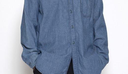 CS001 NAVY 1POCKET SHIRT / BLUE CHAMBRAY