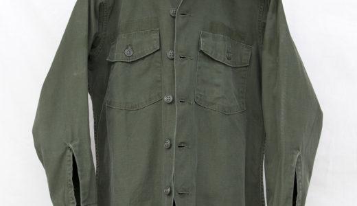 SHIRT, MAN'S, COTTON SATEEN, OLIVE GREEN SHADE 107