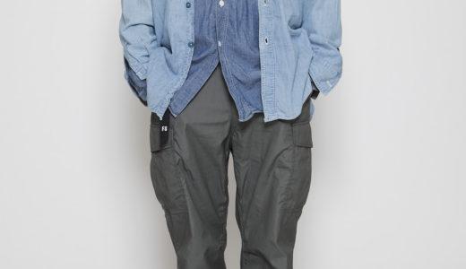 Blue chambray shirt x JUNGLE SLACKS